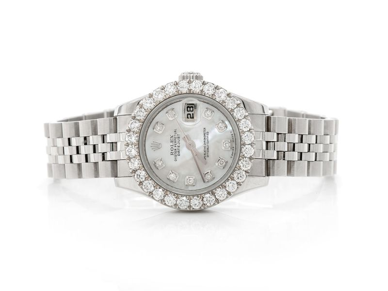 Pre-owned Rolex Datejust 26MM SS  2.01ctw