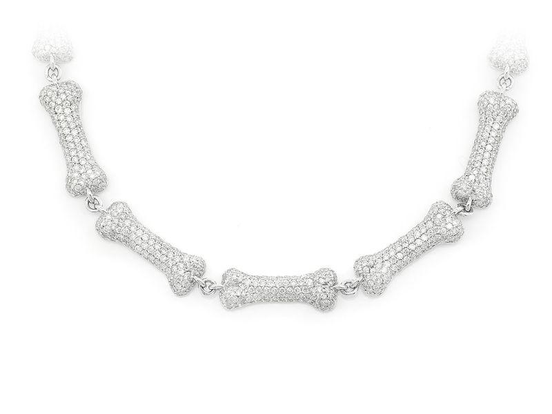 Dog Bone Link Necklace 14K   11.28ctw