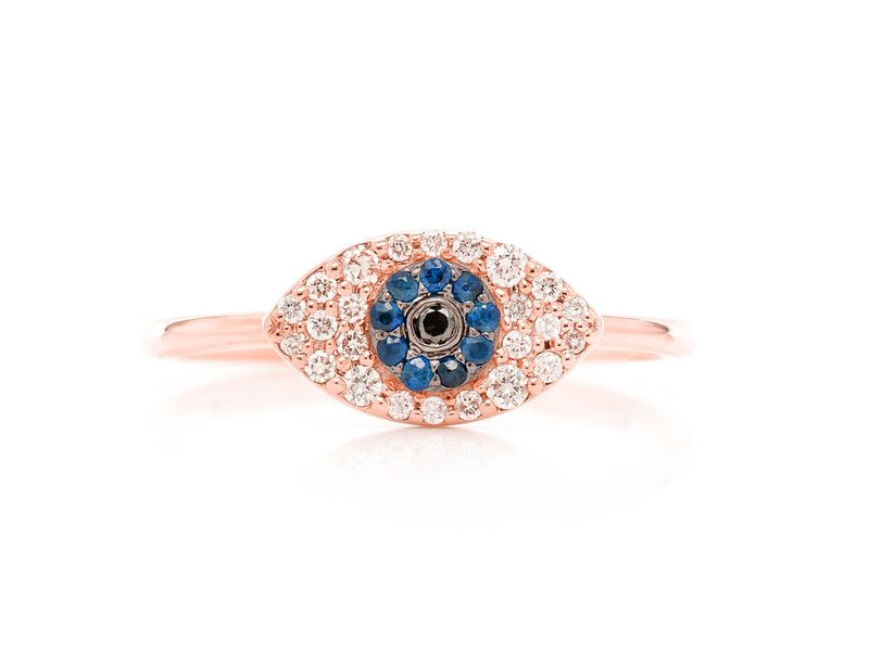 Evil Eye Promise Collection Ring 14K   0.22ctw