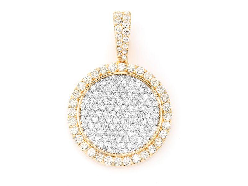 Diamond Medallion Pendant 14K   1.96ctw