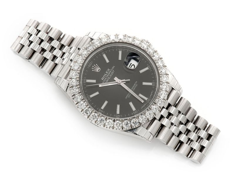 Rolex Datejust 4.89ctw Steel