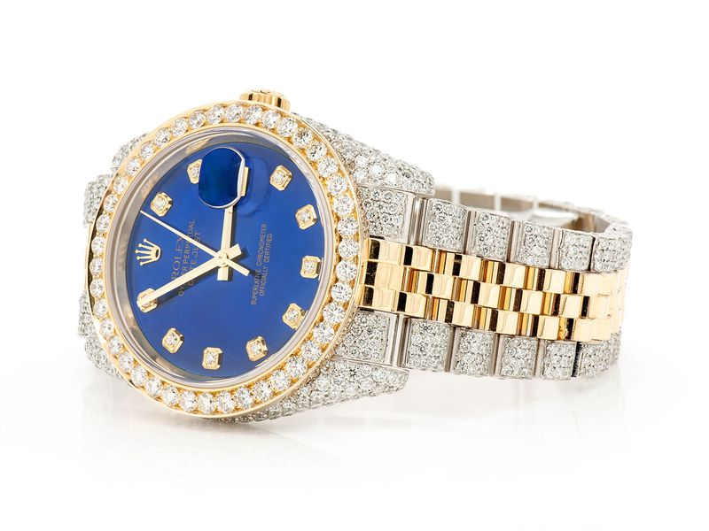 Pre-owned Rolex Datejust 36mm 18K/SS  13.73ctw