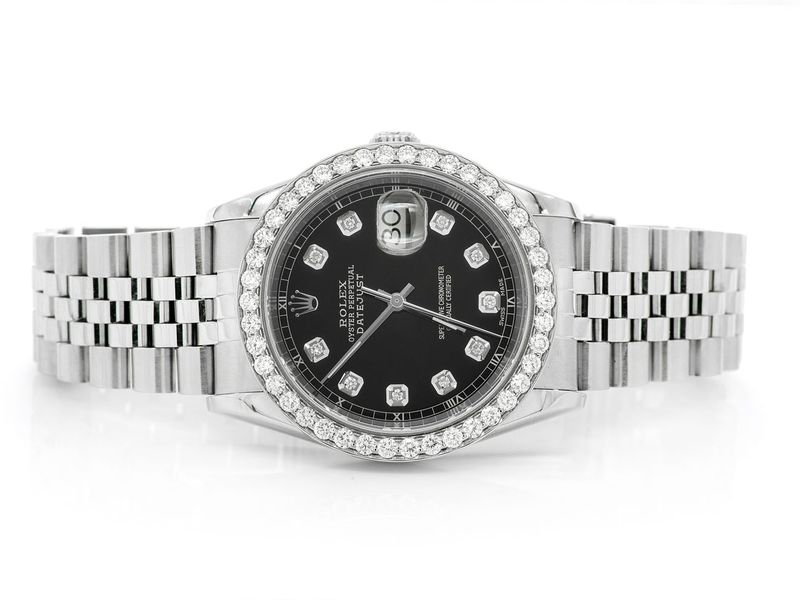 Pre-owned  Datejust 36mm  SS  2.10ctw