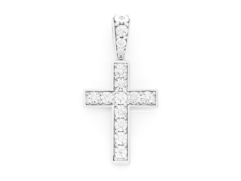 Miracle Cross Small Pendant 14K   0.15ctw