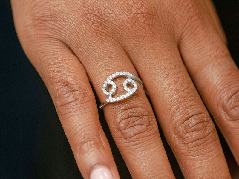 Cancer Zodiac Ring 14K   0.21ctw