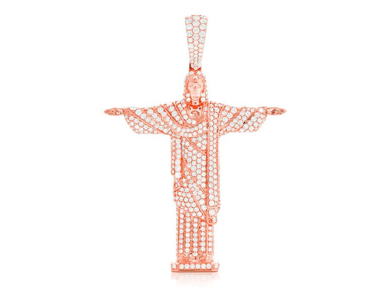 Jesus The Redeemer Pendant 14K   4.30ctw