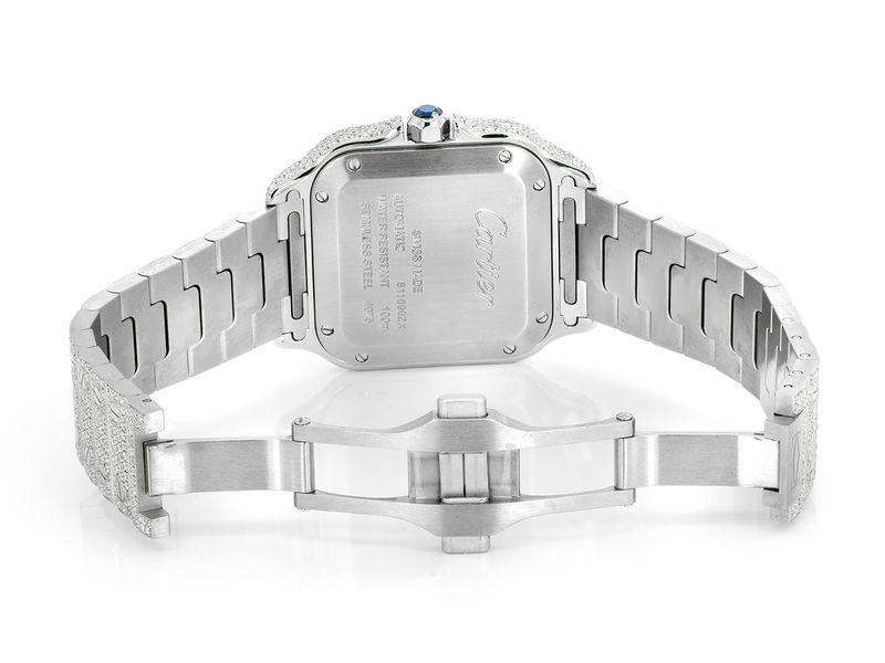 Cartier Santos 100 Steel  14.25ctw