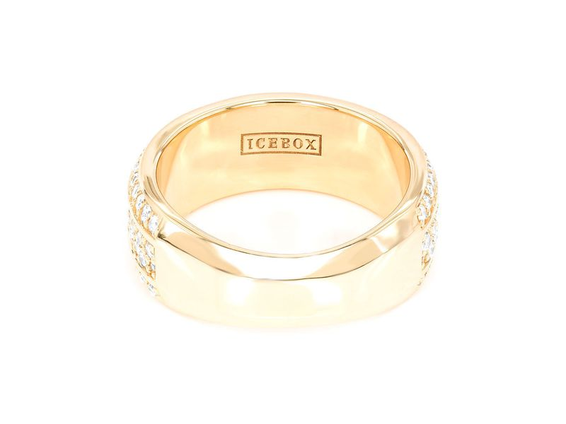 Yael 4 Row Beveled Band  Ring 14K   1.45ctw