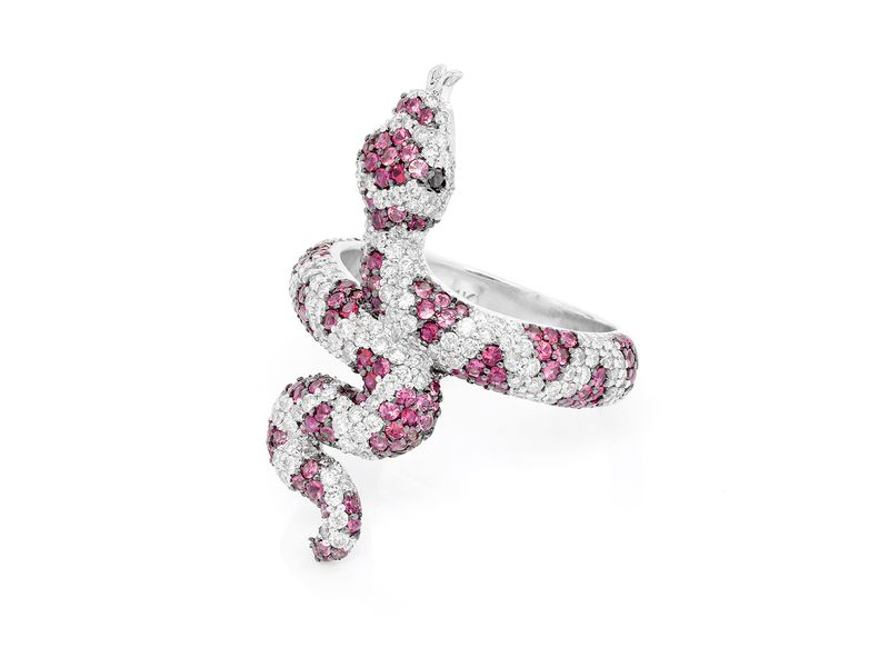 Ruby Snake Ring 14K   2.87ctw