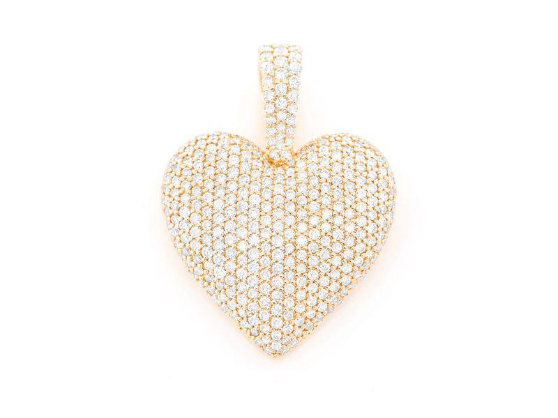 Heart Pendant 14K   1.29ctw