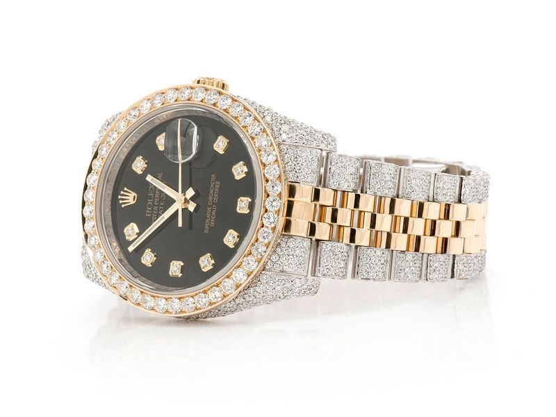 Pre-owned Rolex Datejust 36MM 18K/SS  10.46ctw