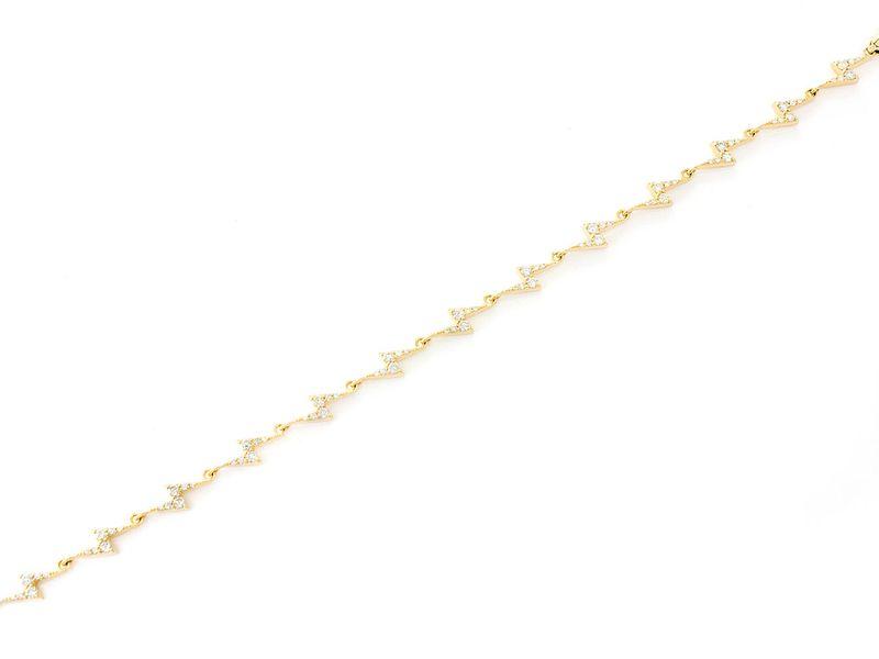 Lightning Bolt Bracelet 14k   1.036ctw