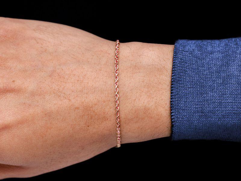 2mm Rope 14K   Bracelet