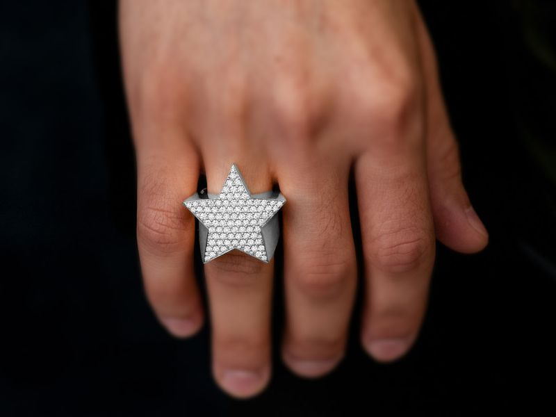 Star Signet Ring 14K   2.24ctw