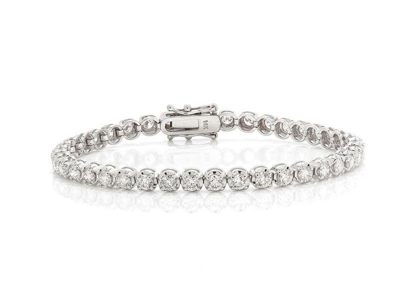 Tennis Bracelet 14K   5.36ctw