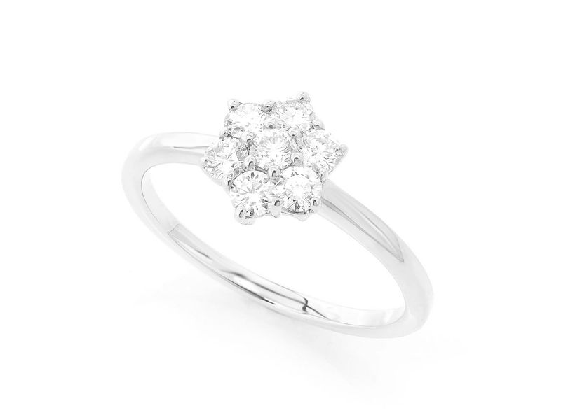 Flower Ring 14K   0.47ctw