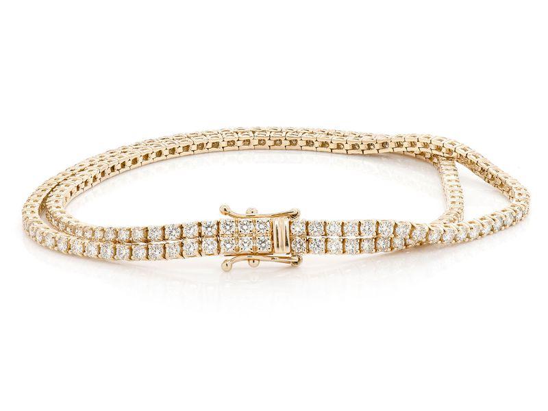 Diamond Bracelet 14K   4.80ctw