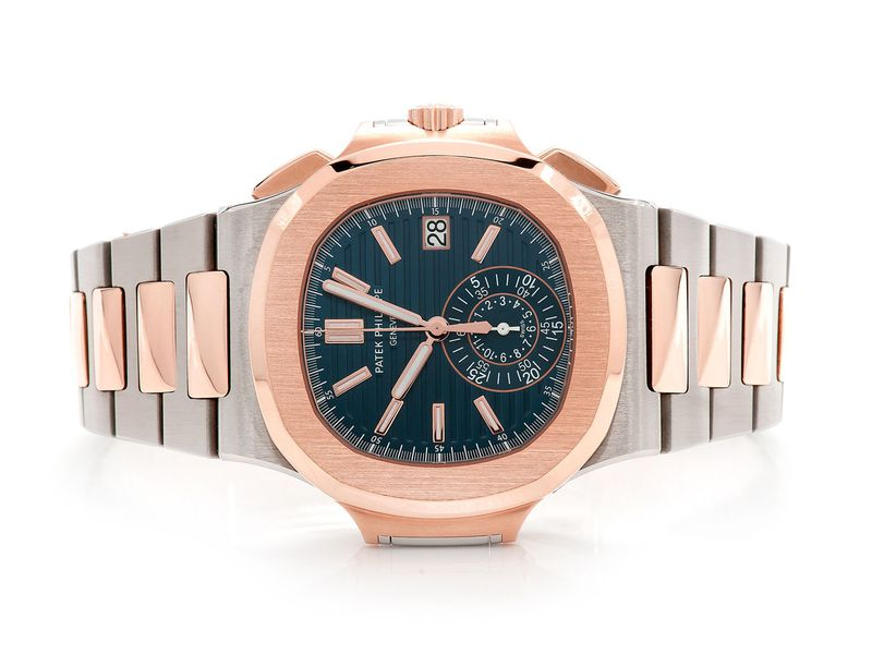 Pre-owned Patek Philippe Nautilus 40mm 18K/SS  -
