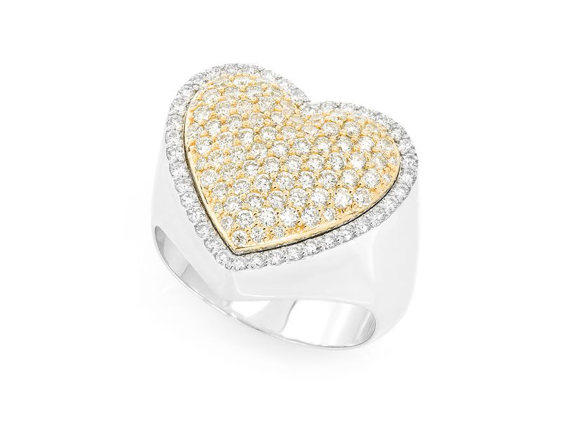 Heart Signet Ring 14K   1.40ctw
