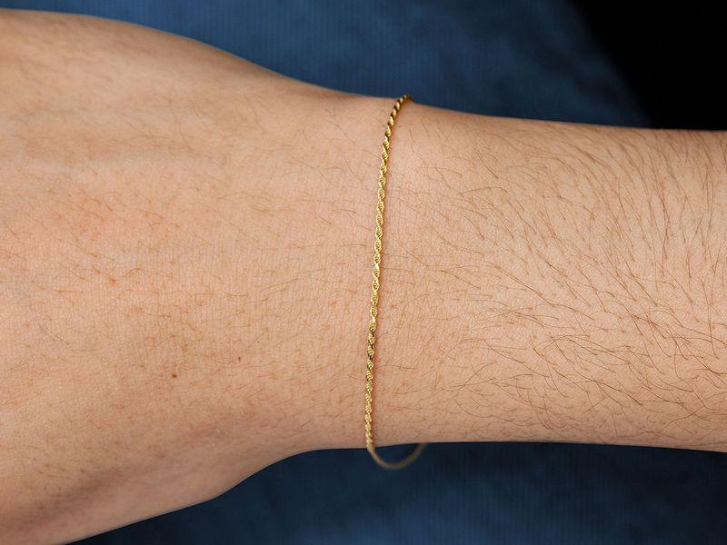 1mm Rope 14K   Bracelet