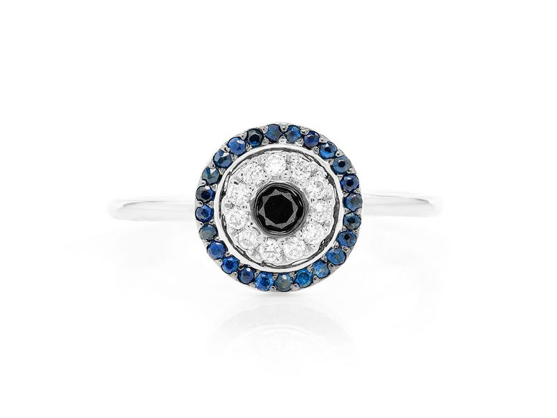 Round Evil Eye Promise Collection Ring 14K   0.32ctw