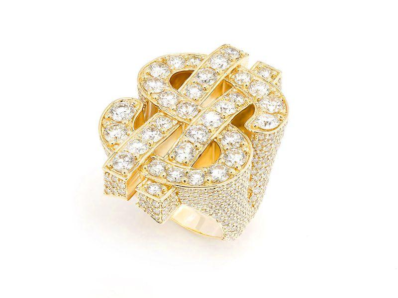 Super Dollar Ring 14K   9.23ctw
