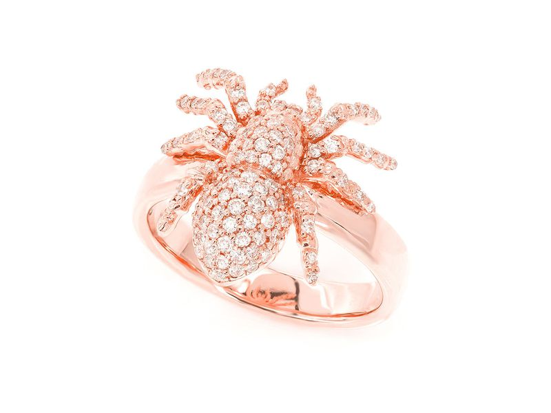 Spider Ring 14K   0.60ctw