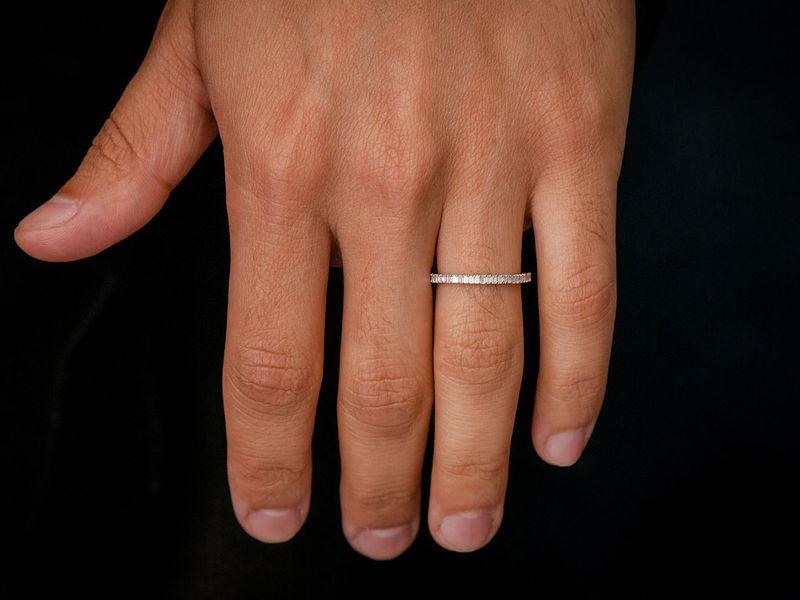 Dawn Horizontal Baguette Band Ring 18K   0.27ctw
