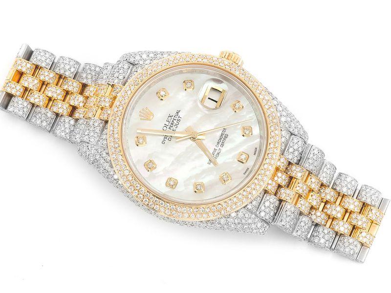 Rolex Datejust 18K  15.99ctw