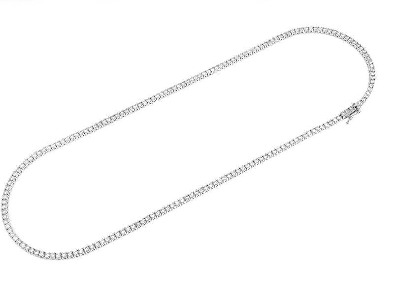 7pt Tennis Necklace 14K   12.21ctw