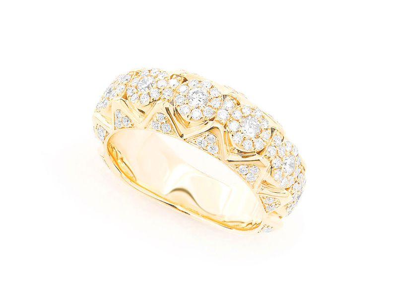 Pyramid Deluxe Ring 14K   1.30ctw