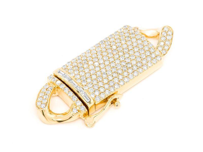 Icebox 16MM Diamond Cuban Clasp 14K   3.75ctw