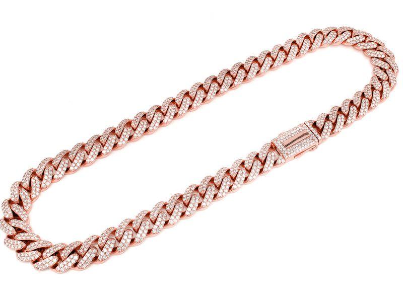 16mm Diamond Miami Cuban Necklace 14K   39.30ctw