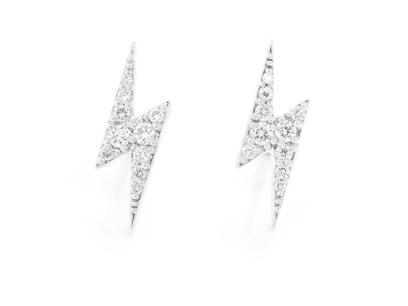 Lightning Bolt Earrings 14K   0.29ctw