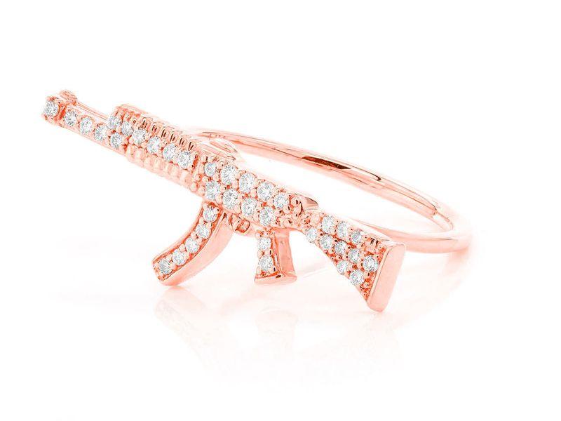 AK47 Ring 14K   0.18ctw