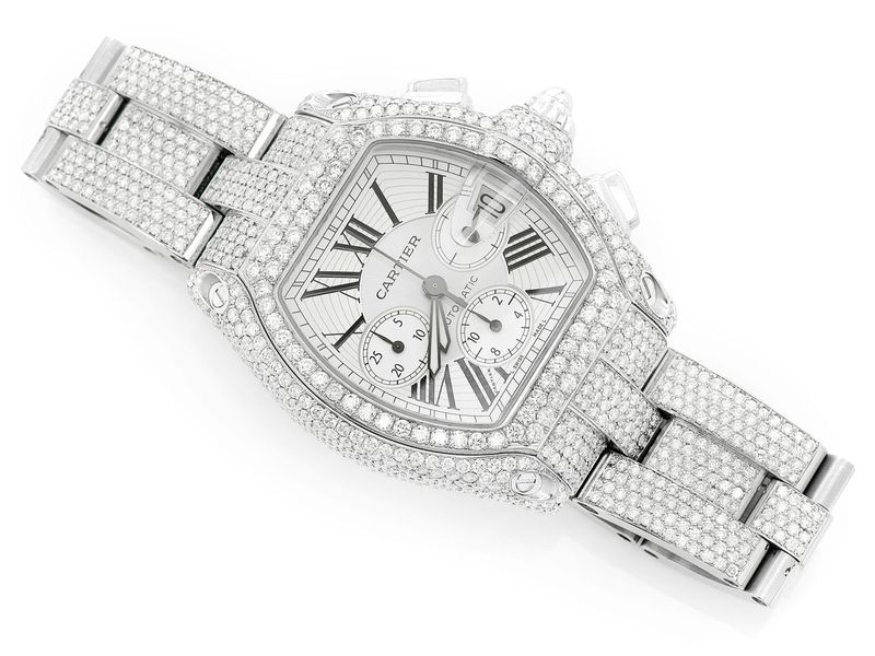 Cartier Chronograph Steel  24.50ctw
