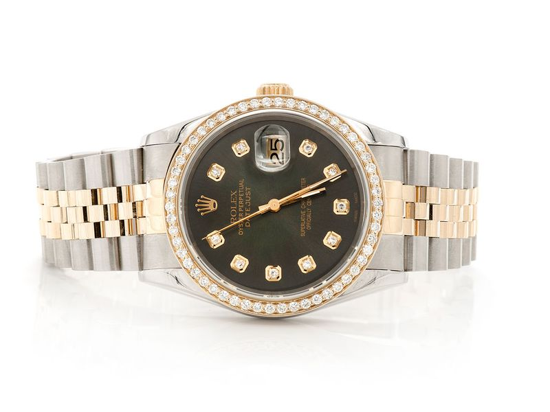 Pre-owned Rolex Diamond 36mm 18K/SS  1.00ctw