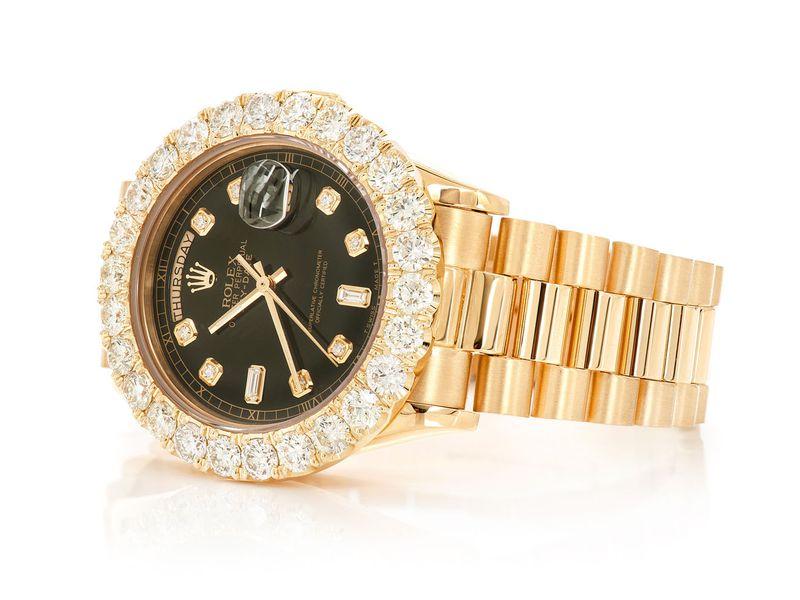 Rolex Day-Date Presidential 18K  7.38ctw