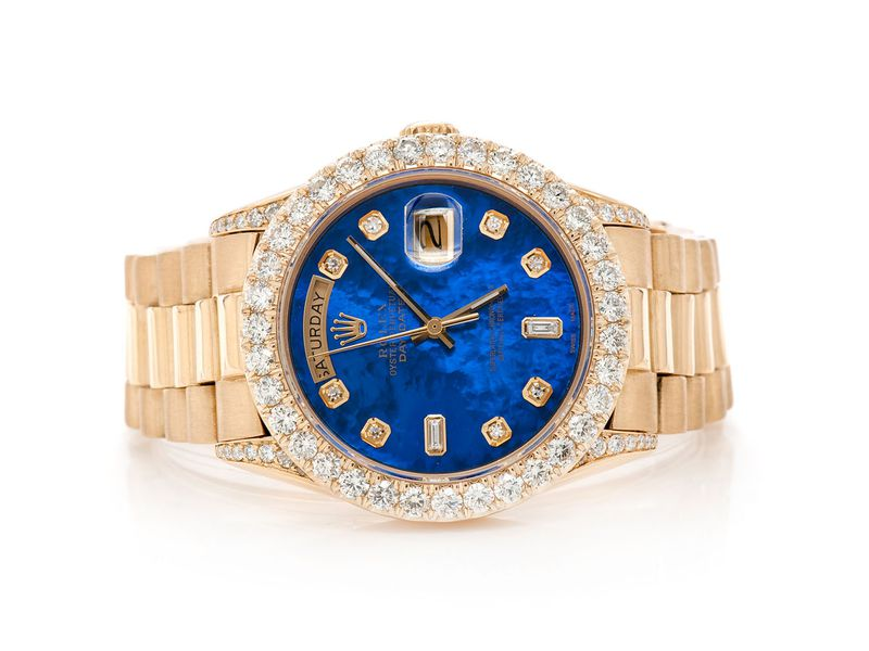 Pre-owned Rolex Presidential 36MM 18K  4.14ctw