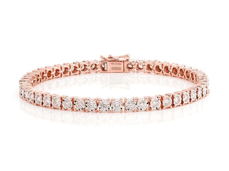 6pt Miracle Bracelet 14K   2.72ctw