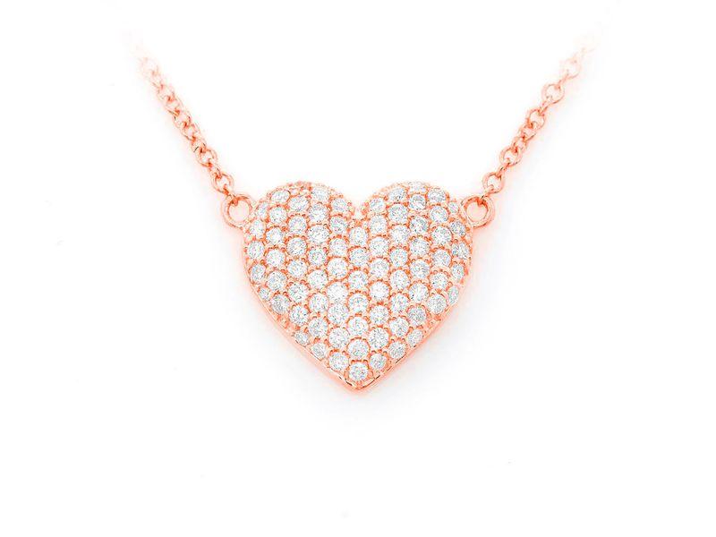 XS Bubbly Heart Pendant 14K   0.29ctw
