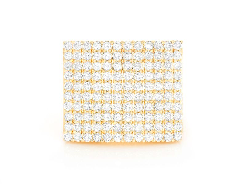 Square Pave Ring 14K   2.54ctw