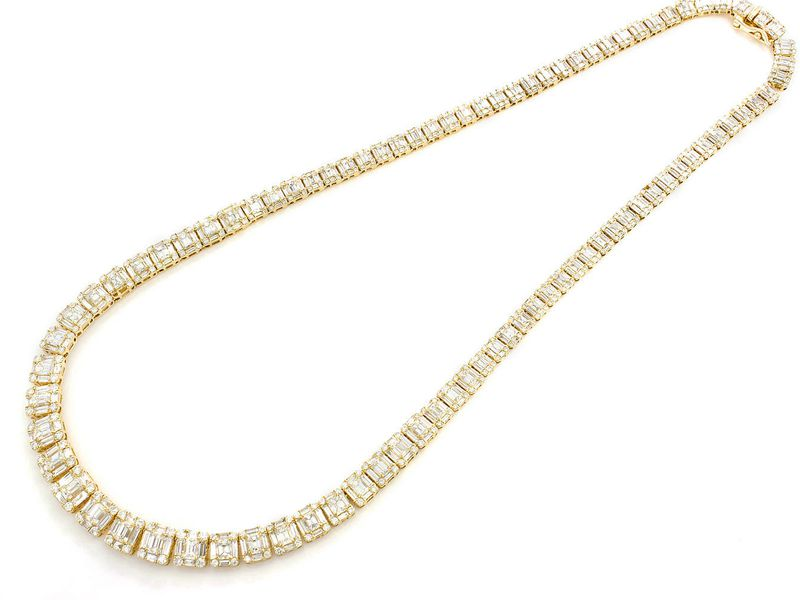 Baguette Necklace 14K   20.00ctw