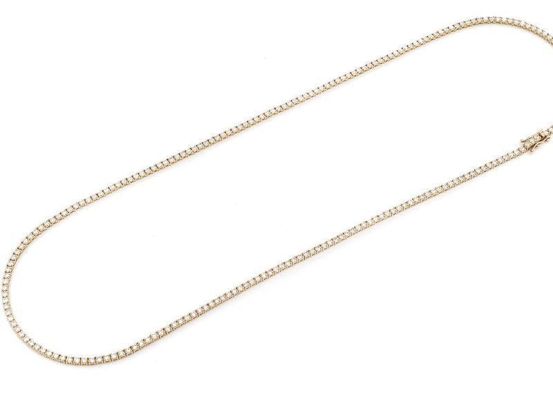 6pt Tennis Necklace 14K   10.50ctw