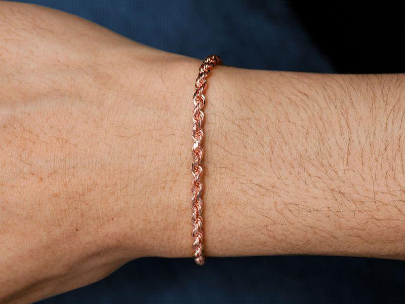 3.5mm Rope 14K   Bracelet