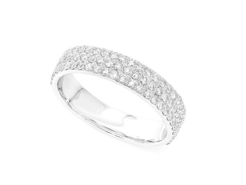 Tory 3 Row Ring  Ring 14K   1.14ctw