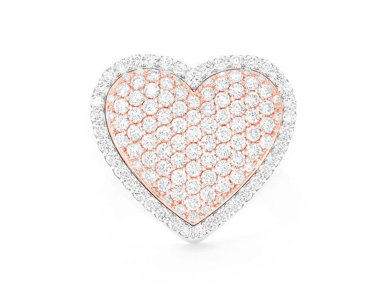 Heart Signet Ring 14K   1.40ctw