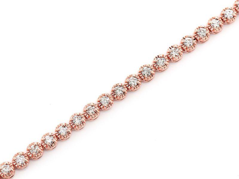 Tennis Bracelet 14K   1.95ctw