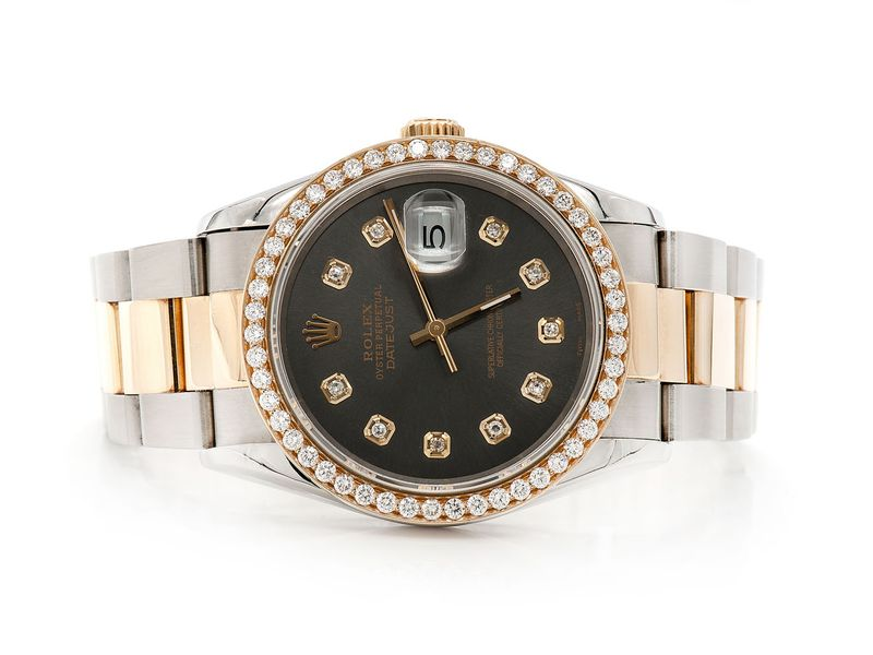 Rolex Turn O Graph 1.29ctw 18K/SS