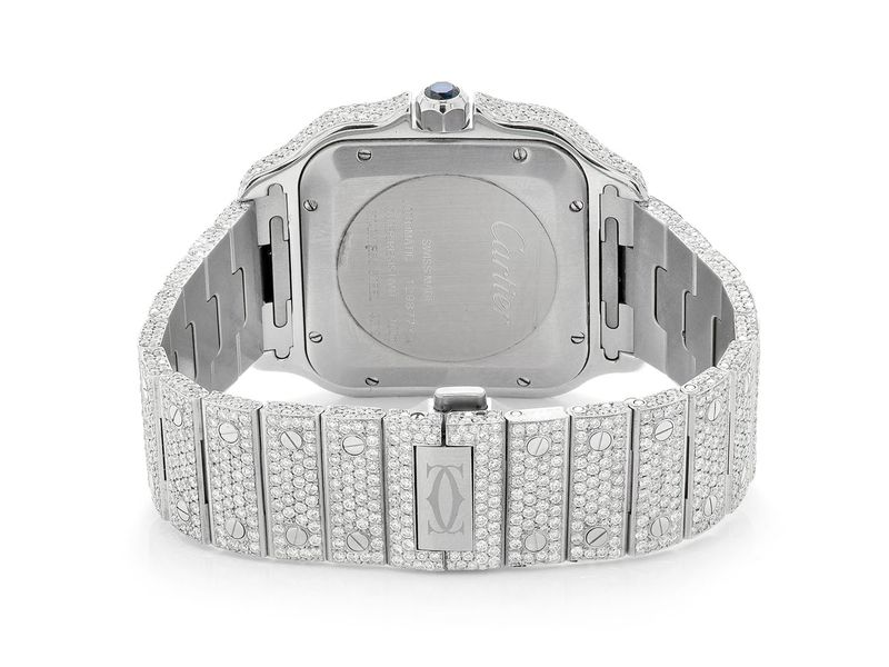 Custom Cartier Watch -  Male 27.44ctw